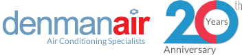 Denmanair air conditioning specialists logo